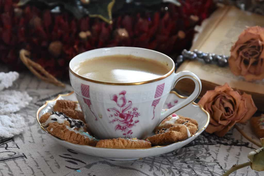 Coffee and cookies. Refresh yourself